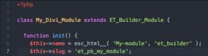 Custom Divi module code